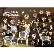 New Year Window Glass PVC Wall Sticker Christmas DIY Snow Town Wall Stickers Home Decal Christmas Decoration for Home Supplies(China)