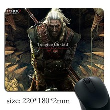 Free shipping hot sale geralt the witcher printed pattern creative gaming mouse pad / optical mouse pad