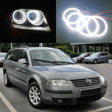 For Volkswagen VW Passat B5.5 3BG 2001 2002 2003 2004 2005 Excellent Ultra bright illumination smd led Angel Eyes Halo Ring kit