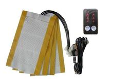 Electric Heaters car 12v universal carbon fiber pad kit +new illuminated switch for DIY 2 seat heated warm Automobiles Seat(China)