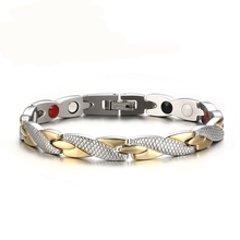 2017 HOT Twisted Healthy Magnetic Bracelet for Women Power Therapy Magnets Bracelets Bangles for Women Men(China)
