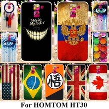 TAOYUNXI Soft TPU Phone Cases For HOMTOM HT30 5.5 inch Covers Back UK Russia Flags Multi Styles Dream Catcher Bags Shell Case