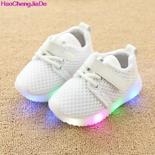 HaoChengJiaDe New Fashion Children Shoes With Luminous Sneakers Shoes Glowing Sneakers Baby Toddler Boys Girls Shoes LED Soft 18(China)