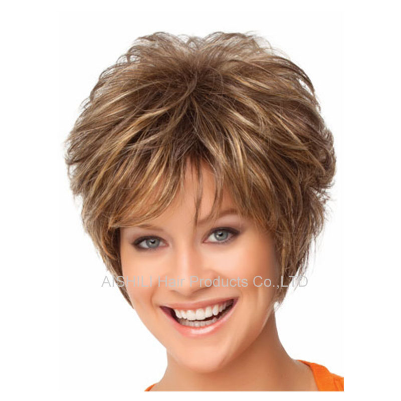 Short  Blonde wig synthetic afro hair puffy straight short wigs for black women wigs that look real Perruque synthetic women<br><br>Aliexpress