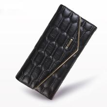 Never Copy Leather Craft Female Wallet Brands Genuine Leather Women wallets And Purse Simple Fashion Orignal Design Handbags(China)