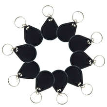 Buy 10pcs RFID key tags black keyfobs I3.56 MHz IC keychains NFC tags ISO14443A RFID MF Classic® 1k nfc tags access keycard for $5.98 in AliExpress store