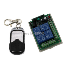 Hot Selling 12V 4CH Small Channel Wireless Remote Control Radio Switch 315mhz Transmitter Receiver 200m High Sensitivity