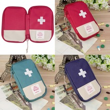 in stock! Durable Outdoor Camping Home Survival Portable First Aid Kit bag Case Convenient handle for easy-carrying