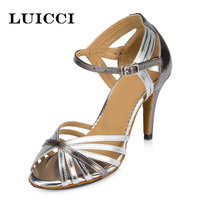 LUICCI brand women's adult Latin dance shoes gold female high-heeled soft outsole ballroom dancing shoes all size