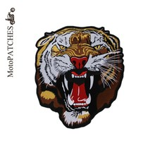 Harley Roaring Tiger Embroidered Custom Iron Patch On Clothes Personality DIY For Jacket