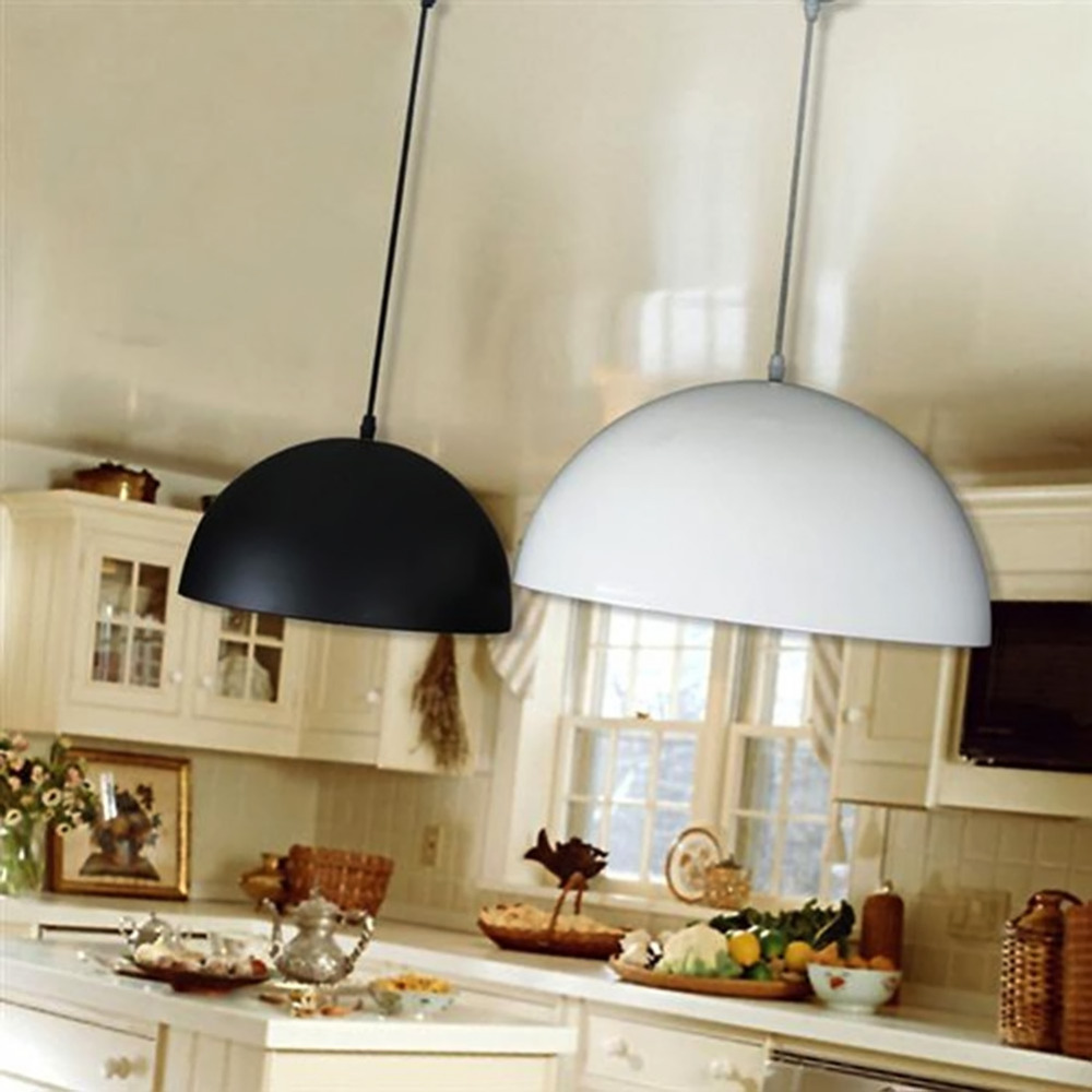 Industrial style Vintage White Black Iron Pendant Light Single Bar Restaurant Lamps without E27 bulb<br>