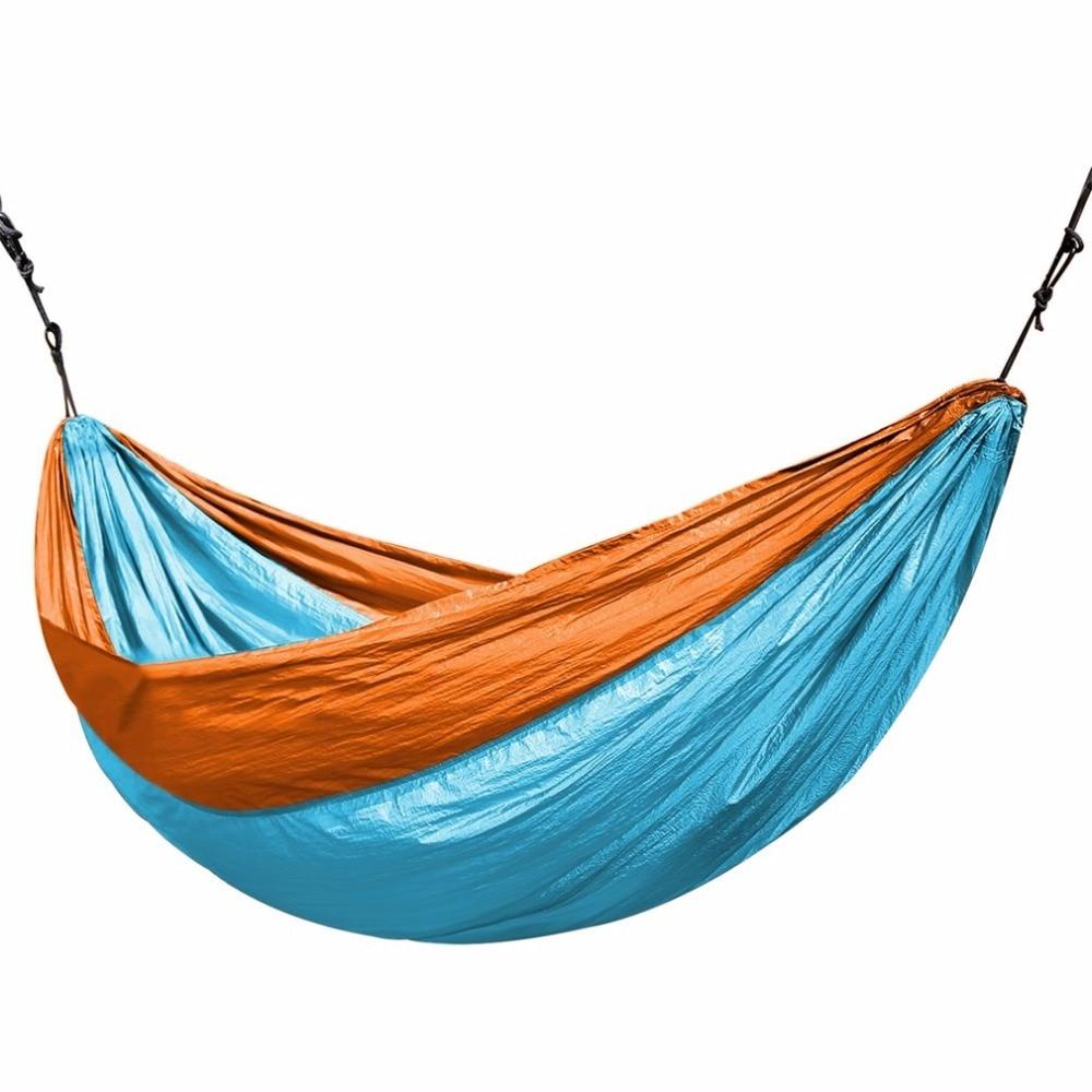 Universal 3.2*2M Larger Size Double Color Nylon Camping Hammock Lightweight Portable Summer Beach Travel Hammock<br>