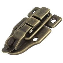 Promotion! Cabinet Boxes Duckbilled Metal Toggle Latch Catch Hasp Bronze Tone
