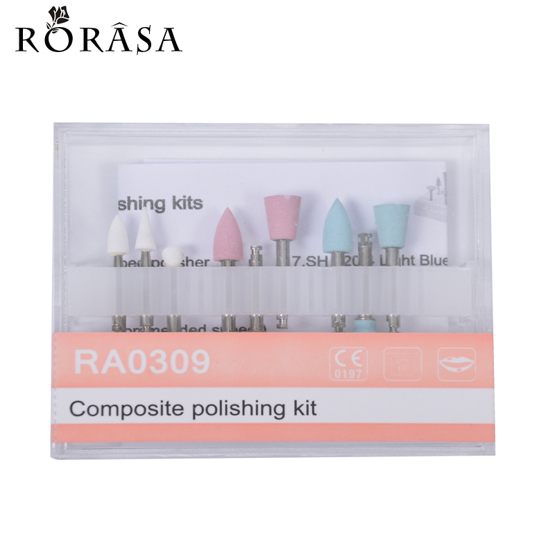 9Pcs/Box Dental Kits Silicon Rubber Polisher For Dental Clinic Clinic Porcelain Inner Mouth Dental Material Tooth Care Tools 20(China (Mainland))