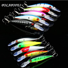 POLAPOFEI 10pcs Wobbler Fishing Lure Fit Kosadaka Yo Zuri Tackle Crankbait Peche Minnow Jerkbait Artificial Pike Fish Bait F172(China)