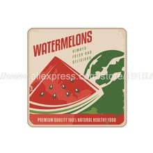 4pcs/set Fruit watermelon printed custom Home Table  Mat Bakery Creative Decor Wholesale Drink Placemat cork cup coaster