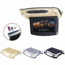 9 Inch Roof Mount Car LCD Monitor Flip Down DVD Screen Overhead Multimedia Video Player Ceiling Roofmount Display USB, SD