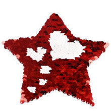 Clothing embroidery patch sequins up and down change color 15cm star heart deal with it patches for clothes free shipping