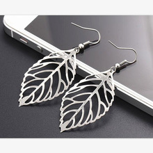 Hot sale Noble Vintage Leaf Earring New Design Bohemian Hollow Earrings Charm Jewelry For Women Wholesale(China)