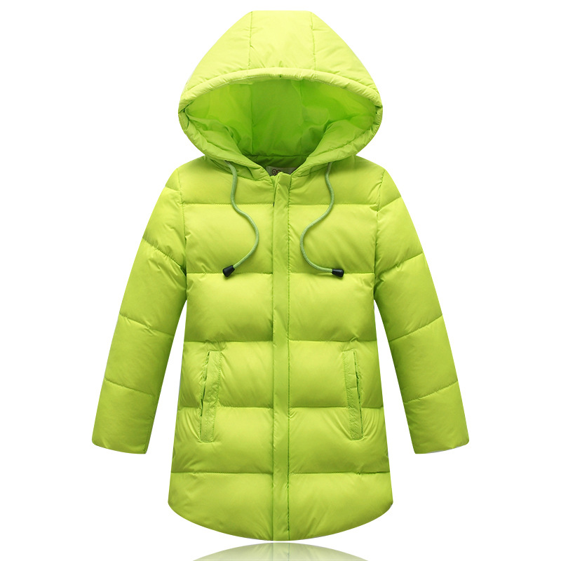 2017 Winter New Baby Boys Girls White Down Coat Long Style Hooded Down &amp; Parkas Green Red Blue Children Clothing WinterОдежда и ак�е��уары<br><br><br>Aliexpress