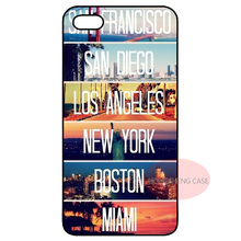 USA United States City Cover Case for Samsung Galaxy S2 S3 S4 S5 Mini S6 S7 Edge Note 2 3 iPhone 4 4S 5 5S 5C 6 Plus iPod Touch