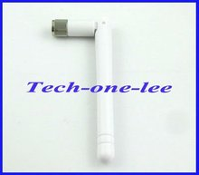 1pcs 2.4GHz WIFI Antenna  2dBi-3dbi Aerial RP-SMA connector Omni White for Wireless Router Rubber