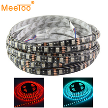 5050 LED Strip Tape RGB LED TV DC12V Black PCB Board 5M/Roll 300LEDS Waterproof Led Neon Light Flexible Strip Lights & Lighting(China)