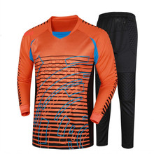 2016 2017 High Quality Soccer Sets Goalkeeper Uniforms Full Sleeve Shirts Hot Sale Men Door Kepper Football Kits