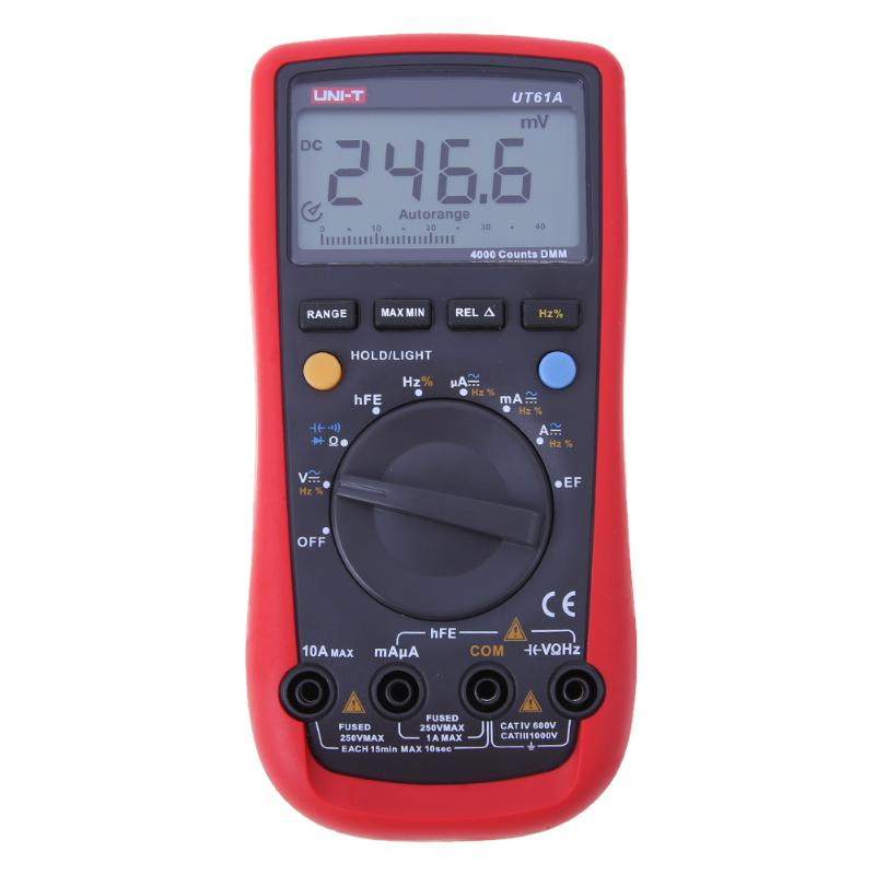 LCD Automatic Digital Multimeter Voltage Current Resistance Capacitance Frequency Tester with Test Lead and Conversion Plug<br>