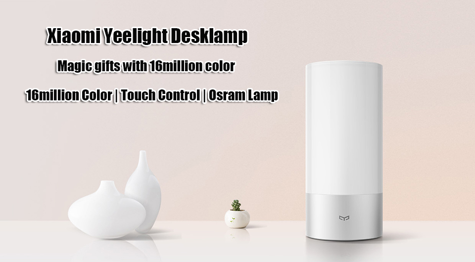 Xiaomi Yeelight  Desklamp 16 million colorful smart remote control lamp support adjustable color temperature and brightness