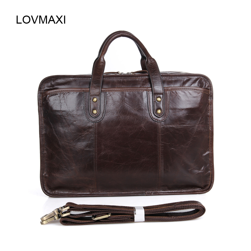 JMD Wax oil leather bags Mens genuine leather briefcase Male causal messenger bags shoulder deep coffee handbags<br><br>Aliexpress
