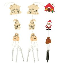 6PCS/LOT.Paint unfinished wood christmas windmill,Christmas crafts,Indoor christmas decoration,Santa oranment,Christmas toys.