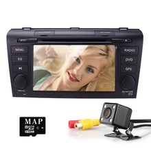 7 inch Car Radio Head Unit for Mazda3 3 2004-2009 Double Din In Dash Stereo Support GPS Navigation DVD CD Player AM/FM Radio USB(China)