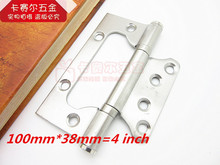 2pcs Stainless steel interior doors hinges quiet bearing folding hinge Lubricated bearings 4 inch(China)