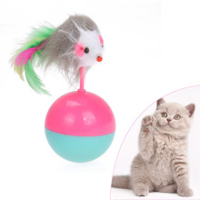 Cat Supplies Mice Toy for Cats Kitten Long Feather False Mouse Tumbler Ball Funny Pet Rustle Activity Toy Product for Cats