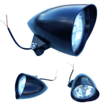 New Black Motorcycle Chrome bullet Headlight/lamp