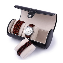 Fashion Luxury Watch Display Gift Box Case Roll 3 Slot Wristwatch Necklace Bracelet Jewelry PU Leather Box Storage Travel Pouch