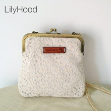 LilyHood Women Shabby Chic Lace Shoulder Bag Handmade Vintage Retro Victorian Style Wedding Cotton Frame Stacy Small Funky Bag(China)