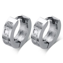 MHS.SUN High Polished Fashion Women Etching Titanium Earring Jewelry 316l Stainless Steel Unique Earring Brand Rock Cheap Sale(China)