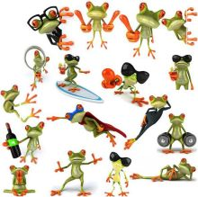 1 PC wall sticker 3D stereo personalized frog total 42 models stickers funny new creative personality car stickers  ACT28
