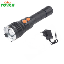 Professional Led Flashlight Cree xml T6 +Cob Long Distance Spotlight Powerful Waterproof Hand Linternas for Backpackimg Hiking