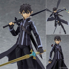 Anime Sword Art Online Figma 289 Kirigaya Kazuto Kirito ALO Ver PVC Action Figure Collection Model Kids Toys Doll 15cm