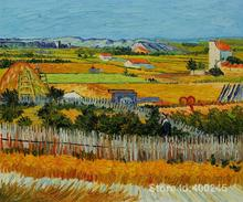 artwork by Vincent Van Gogh The Harvest Oil painting canvas reproduction High quality Hand painted