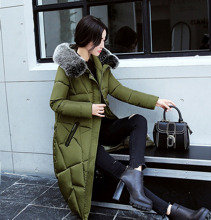 2017 Winter Women Coat Thicken Warm Long Jacket women coat girls long slim big coat jacket Down Parka+14 (2)