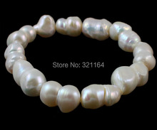 YYW Freshwater Cultured Pearl Bracelet fashion free shipping, Freshwater Pearl, natural, white, 14-18mm