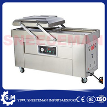 DZ-600-2s dry-wet vacuum sealing machine commercial double room cooked package vacuum sealing machine