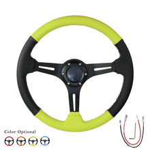Car Steering Wheel 14inch 350mm Drifting auto Steering Wheel / Suede Leather Steering wheels   YC100958