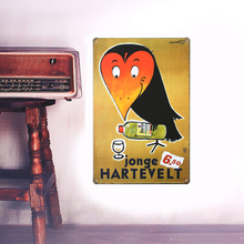 European Retro style advertising sign board Wall stickers metal iron crafts picture Furnishing articles painting draw bar house
