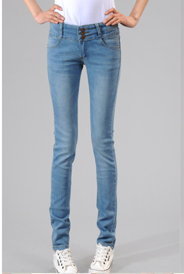 Slim 2015 New Elastic Waist Jeans Women High Waist Slim Was Thin Pencil Pants Casual Trousers Plus Size JeansОдежда и ак�е��уары<br><br><br>Aliexpress