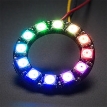 Hight Quality Ultra Bright Smart LED Ring 12leds WS2812 5050 RGB LED Lamp Panel with Integrated Drivers